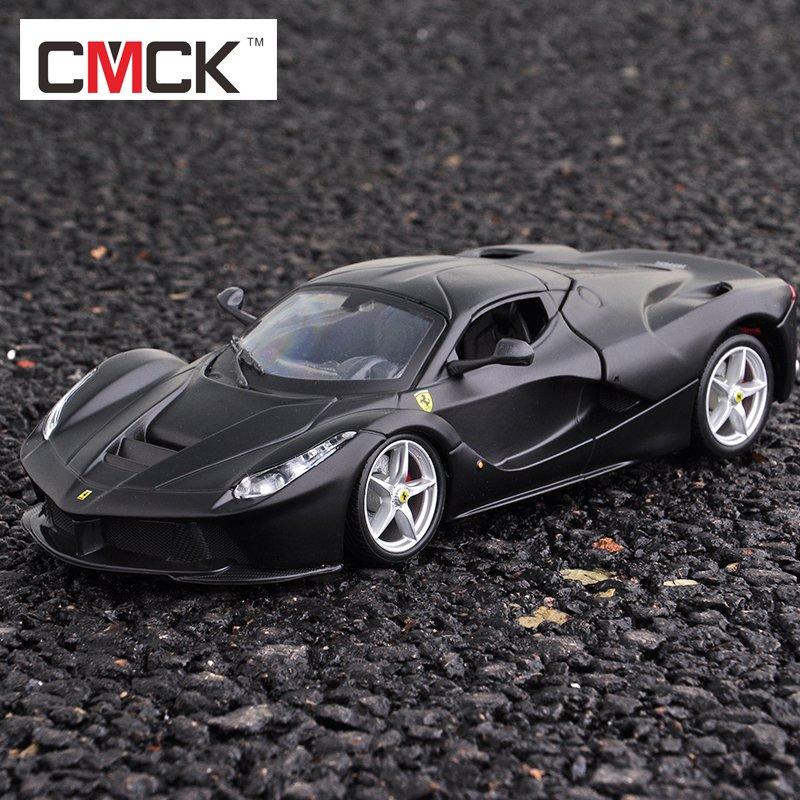 比美高1:18精装版458法拉利拉法车模 488GTB原厂仿真合金汽车模型