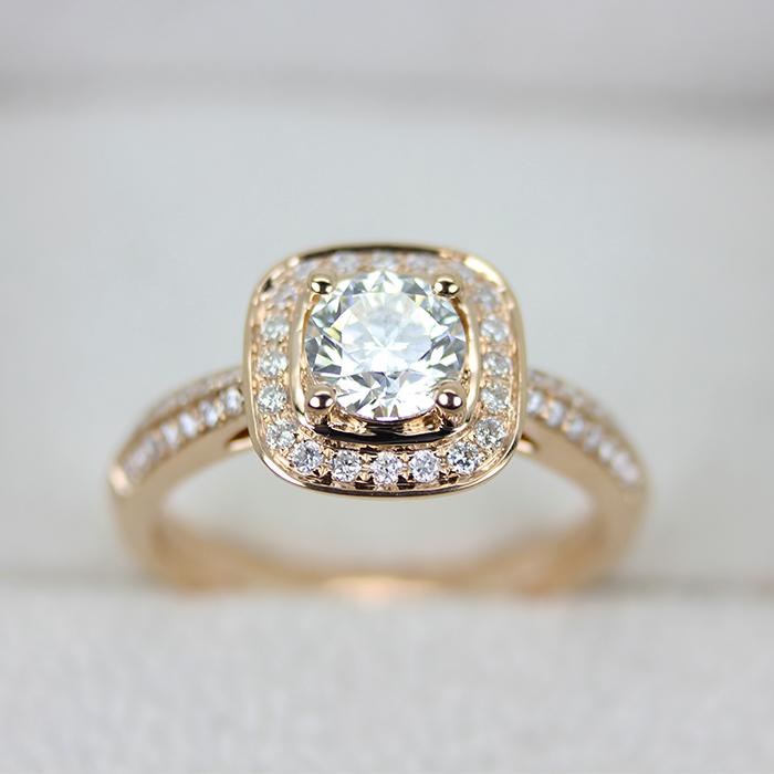 Luxury group set 18k rose gold diamond ring wedding ring holder customized diamond ring carat effect