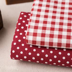日韩风格棉麻布料格子手工diy布料 窗帘桌布抱枕沙发布居家布艺