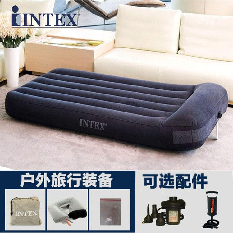 INTEX надувной домой семья воздушная подушка лист человек порыв воздушная кровать увеличение двойной люди утолщённый на открытом воздухе полдень остальные кровать