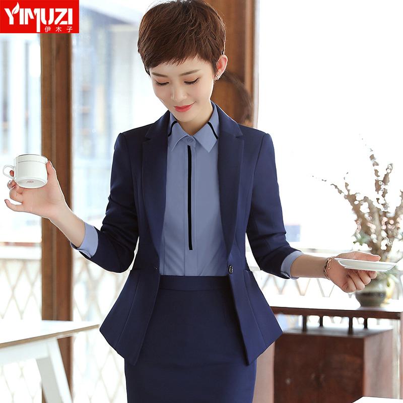 职业装女2018新款夏时尚女士西服工装2017西装工作服面试正装套装