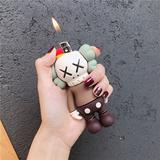 潮牌kaws打火机套芝麻街创意可爱摆件蹦迪男女小玩具打火机保护套