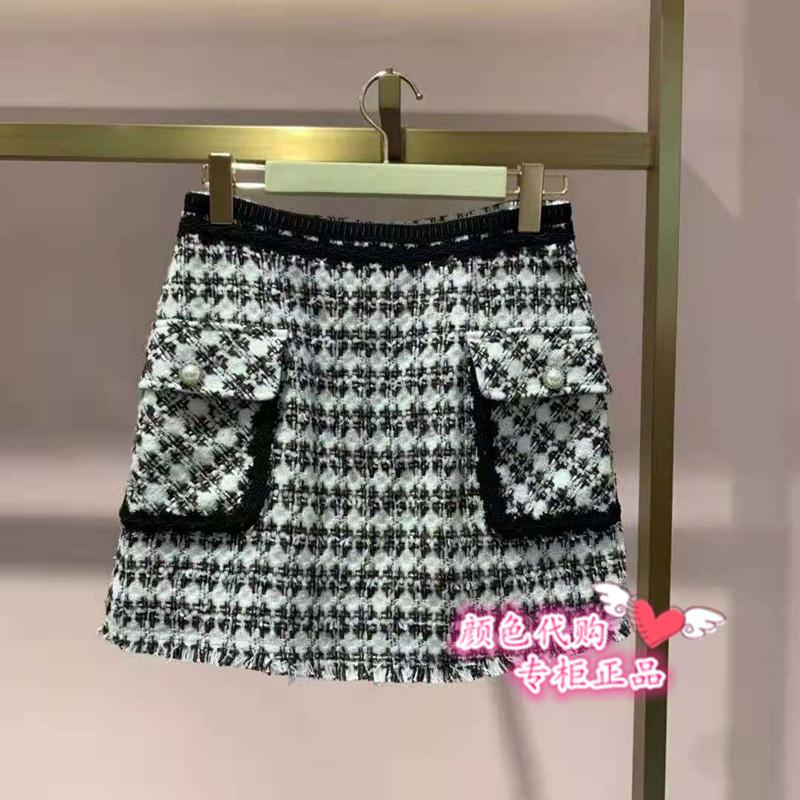 2RA4070580 Five plus two2020国内代购冬装新款小香风短裙半身裙