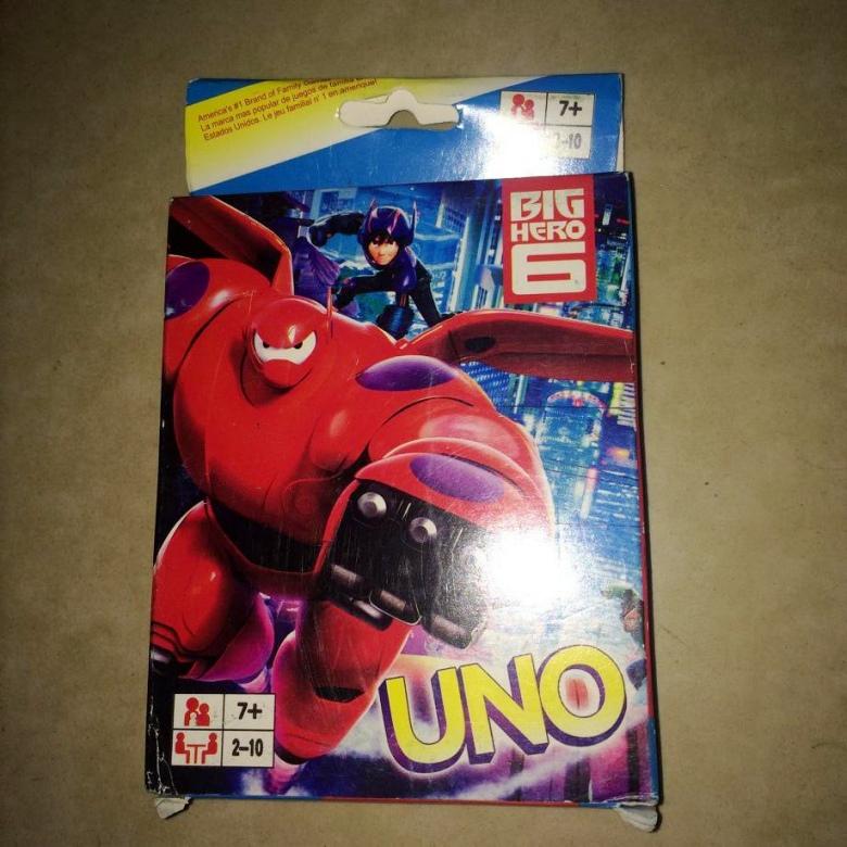 Супер наземные битвы команда baymax шесть герой UNO карты рабочий стол игра бумага карты головоломка день рождения подарок