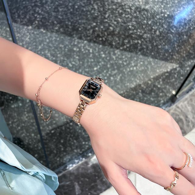 聚利时JULIUS正品韩版复古方形手链表时尚潮流防水石英手表女