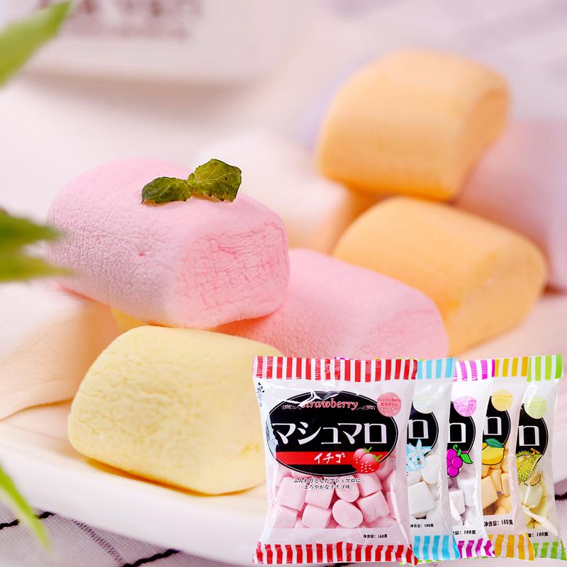 和风细语无极岛棉花糖 日式水果味棉花糖果 DIY牛轧糖烘焙原料
