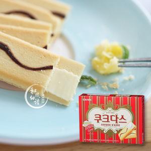 韩国进口零食品 可瑞安crown 咖啡奶油味夹心蛋卷饼干糕点 72g9包