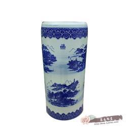 景德镇陶瓷书画筒雨伞筒箭筒帽筒米缸圆柱花盆青花瓷落地装饰实用