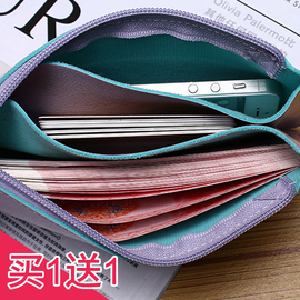 零钱包女长款ins小手包简约学生韩版手拿包手机包手抓包超薄卡包图片