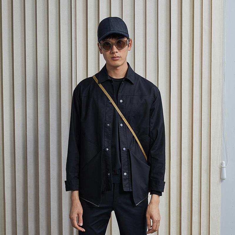 【商场同款】速写男装2018春夏新品休闲帅气夹克外套潮9I1201350