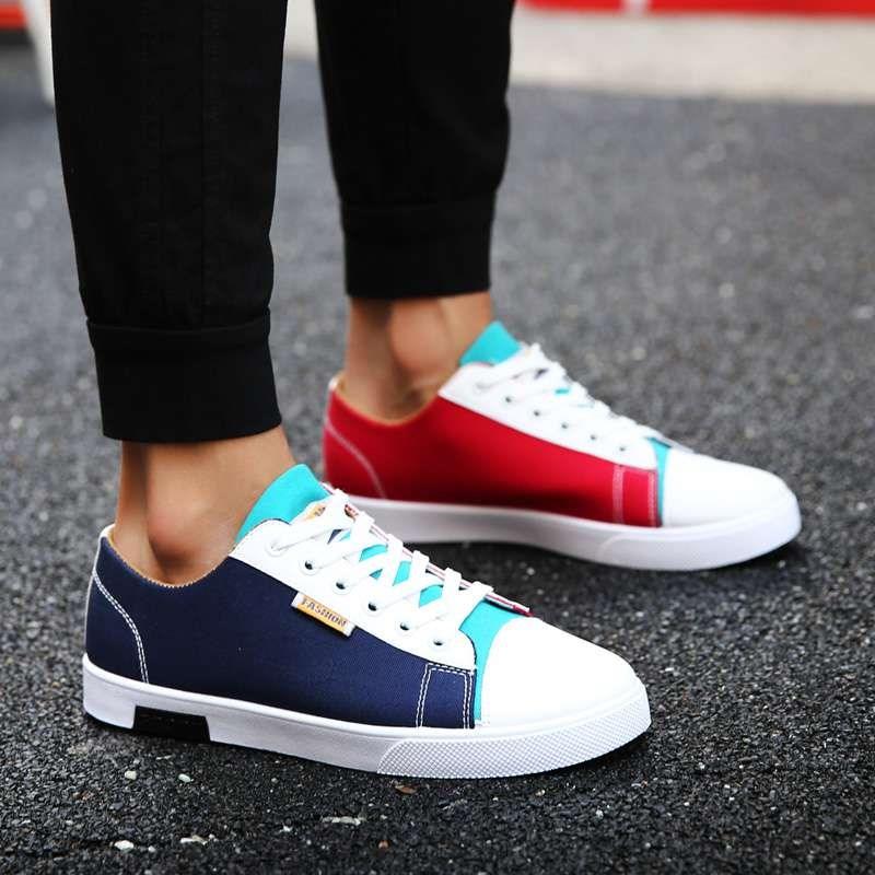 不一样颜色小白一样子男鞋子牛仔牛仔裤两只色的仔裤鸳鸯不一