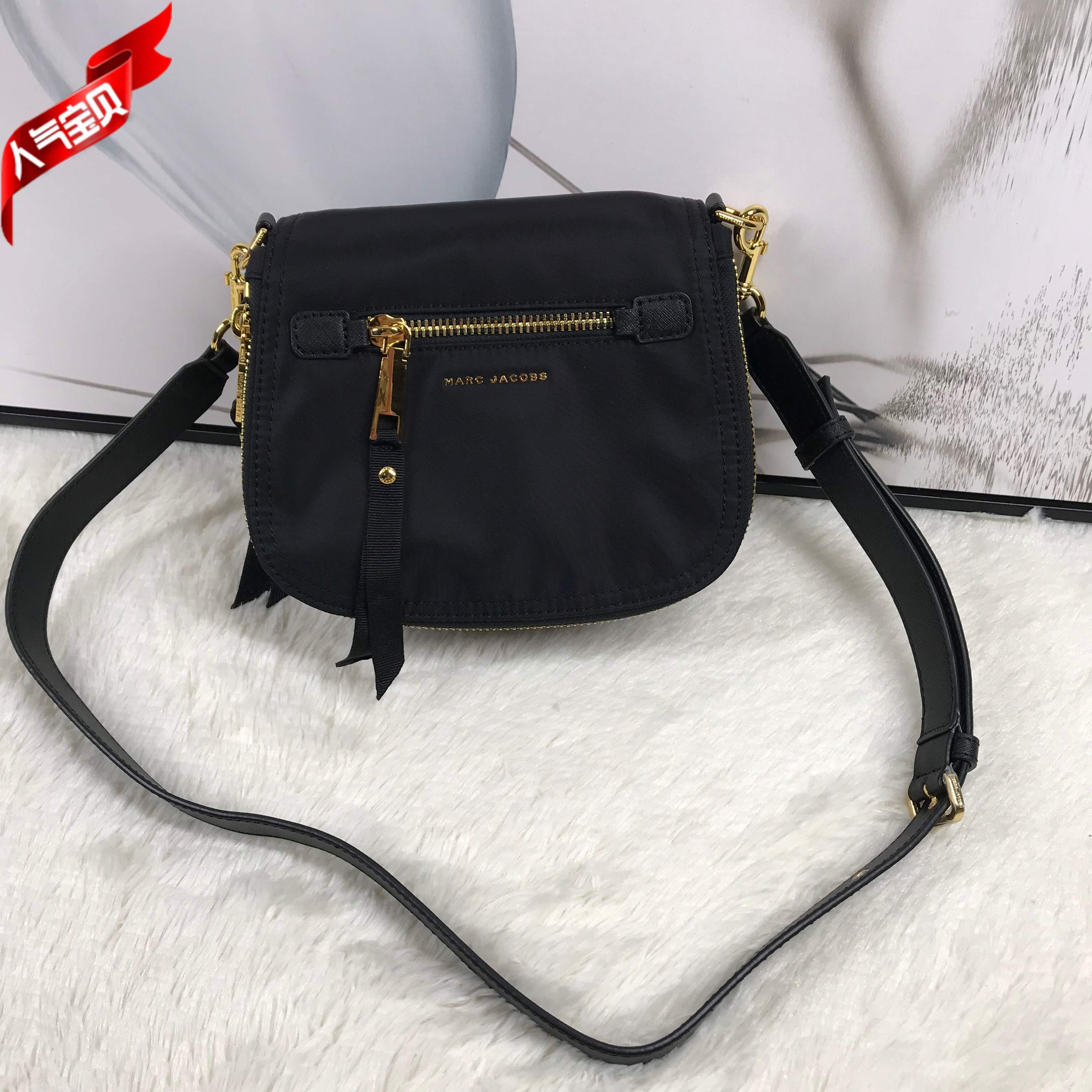 MJ new camera bag womens purse waterproof buckle pony brother one shoulder backpack portable college womens saddle bag