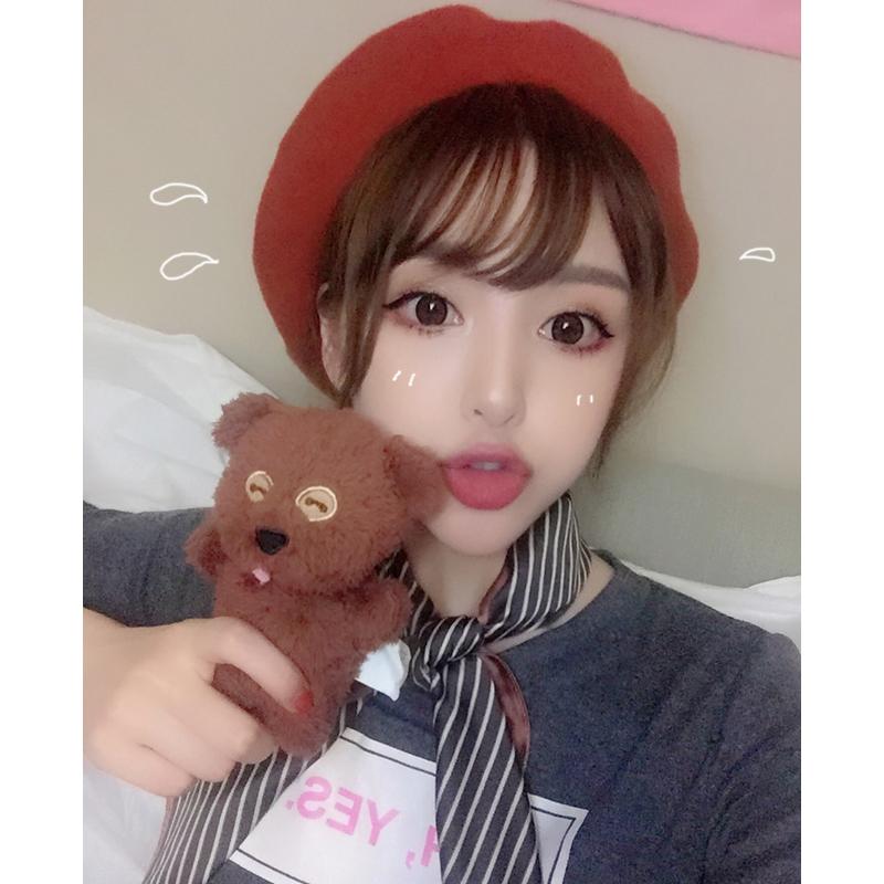 Cho 17 autumn / winter chic literature and art Lovely Japanese soft cute girl woolen cloth painter Beret Hat rust red pumpkin