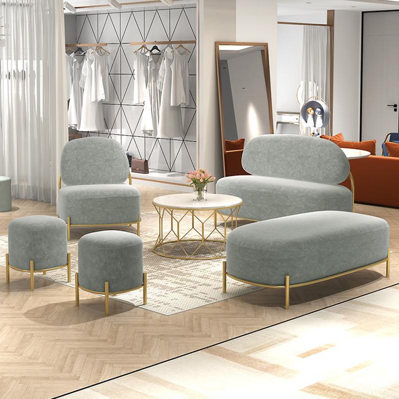 Office set sofa net red pebble sofa chair combination sofa light luxury wedding dress shop cloth art
