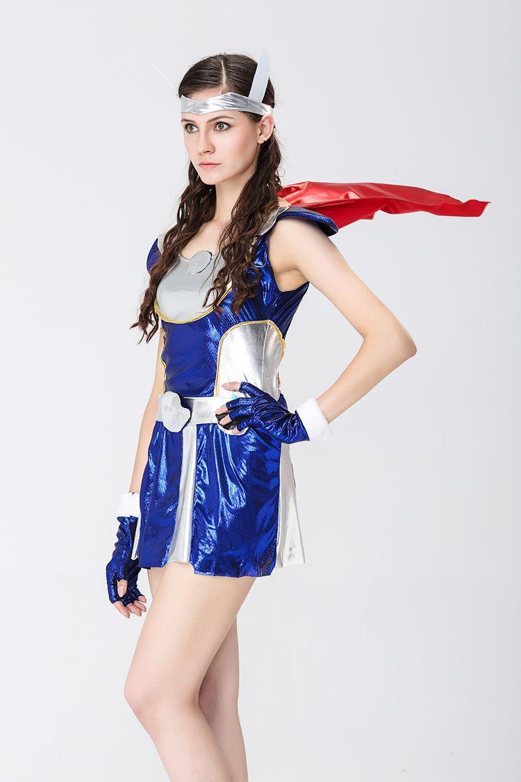 ThorGirl雷神托尔女版万圣节服装美国漫画超级英雄角色扮演