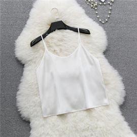 重磅真丝吊带背心短款宽松A版 桑蚕丝绸缎打底衫内搭女夏白色黑薄