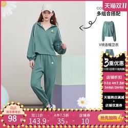 阿卡卫衣休闲裤运动套装女装2020秋季新款洋气时尚连衣裙两件套装