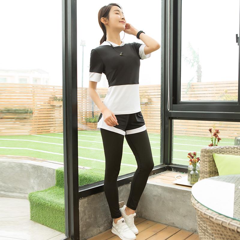 路伊梵健身服女运动套装健身房瑜伽服韩版显瘦跑步服春夏新款