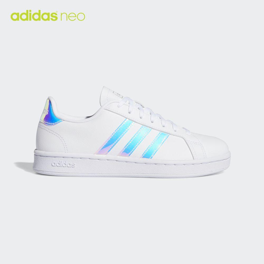 阿迪达斯官网 adidas neo GRAND COURT 女子低帮休闲运动鞋EE9689