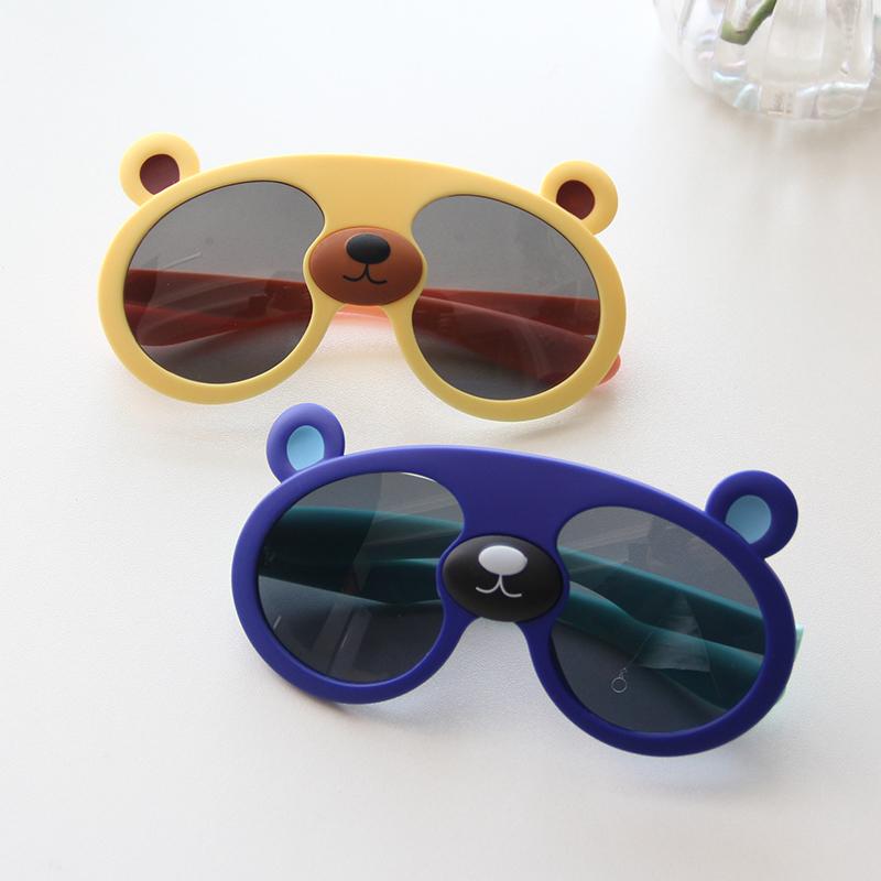 婴儿墨镜 可爱小熊男宝宝偏光太阳眼镜2岁儿童太阳镜女童防紫外线