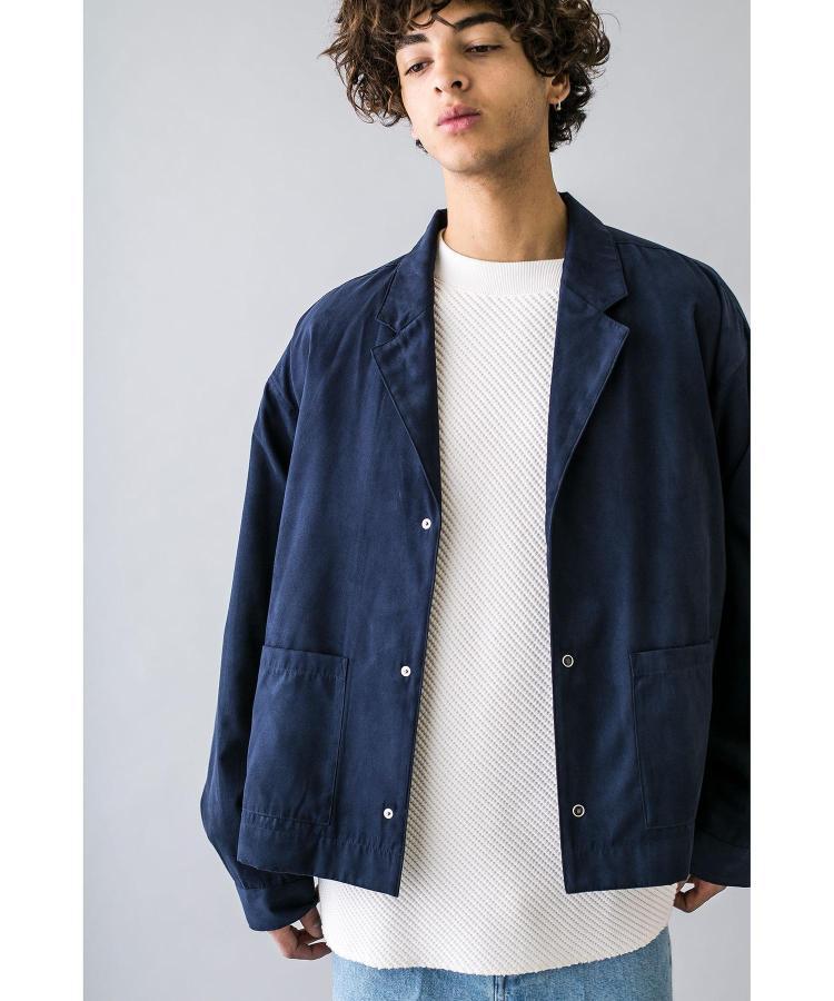 【4折】MONKEY TIME 人造绒面革开放领衬衫 0326