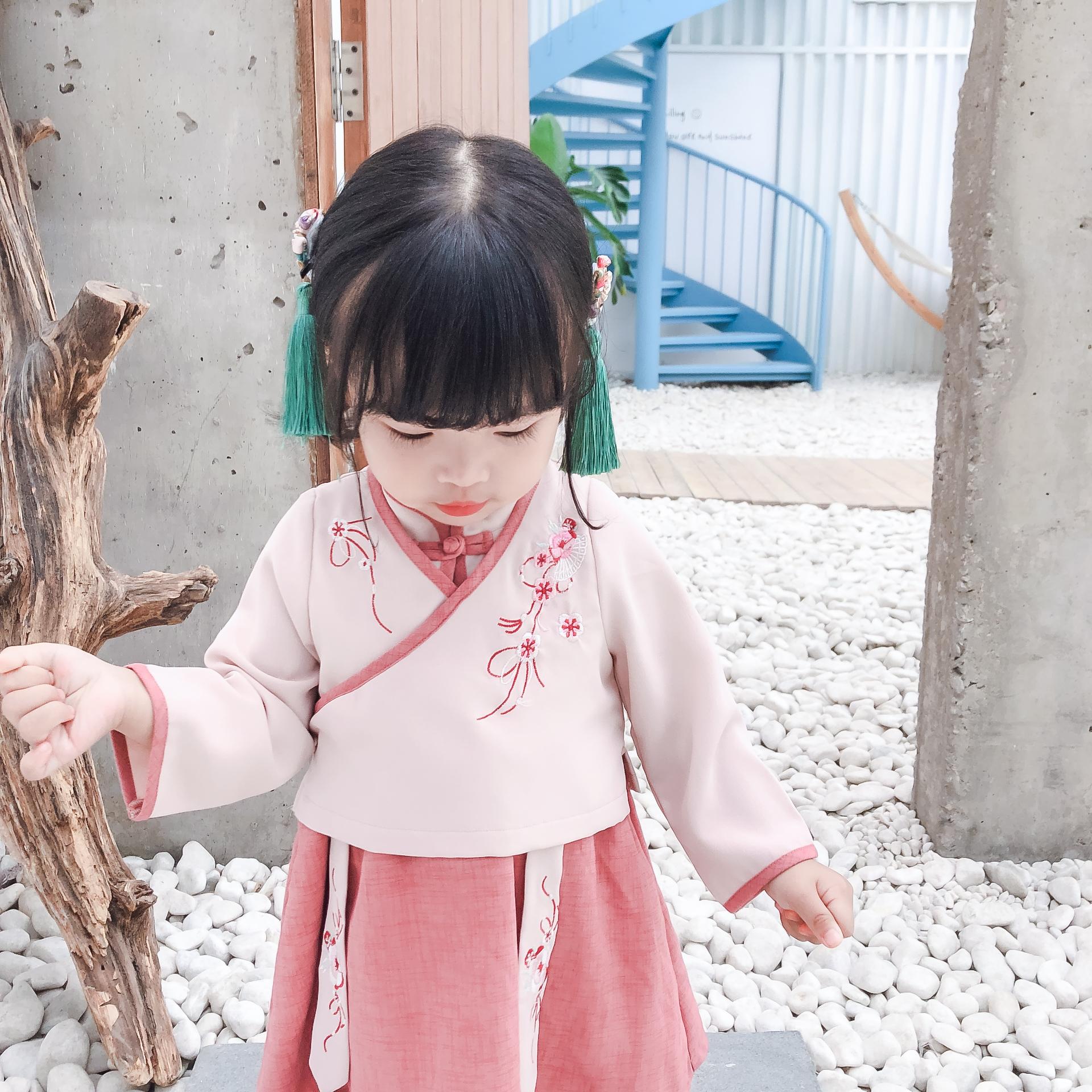 1一6岁女宝汉服套装裙中国风小童(用81元券)