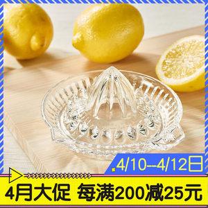 [和风]日本进口东洋佐佐木可机洗家用玻璃手动挤压果汁柠檬榨汁器