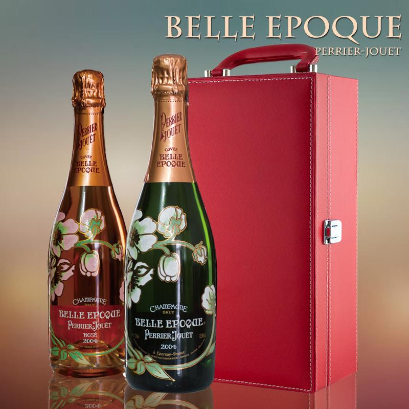 法国原装进口红酒 巴黎之花美丽时光香槟葡萄酒 双支礼盒套装包邮