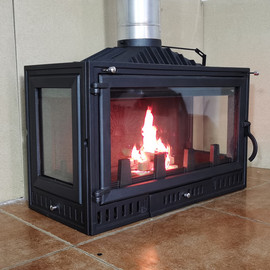 杰森壁炉真火家用燃木柴火炉嵌入式别墅民宿取暖三面观火现代简约