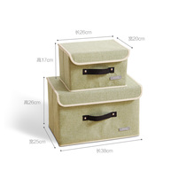 Underwear storage box folding covered clothes storage box fabric finishing box small socks underwear storage artifact
