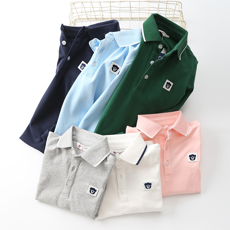 包邮童装夏装新款男童休闲Polo衫中大童长袖T恤衫帅短袖t110-160