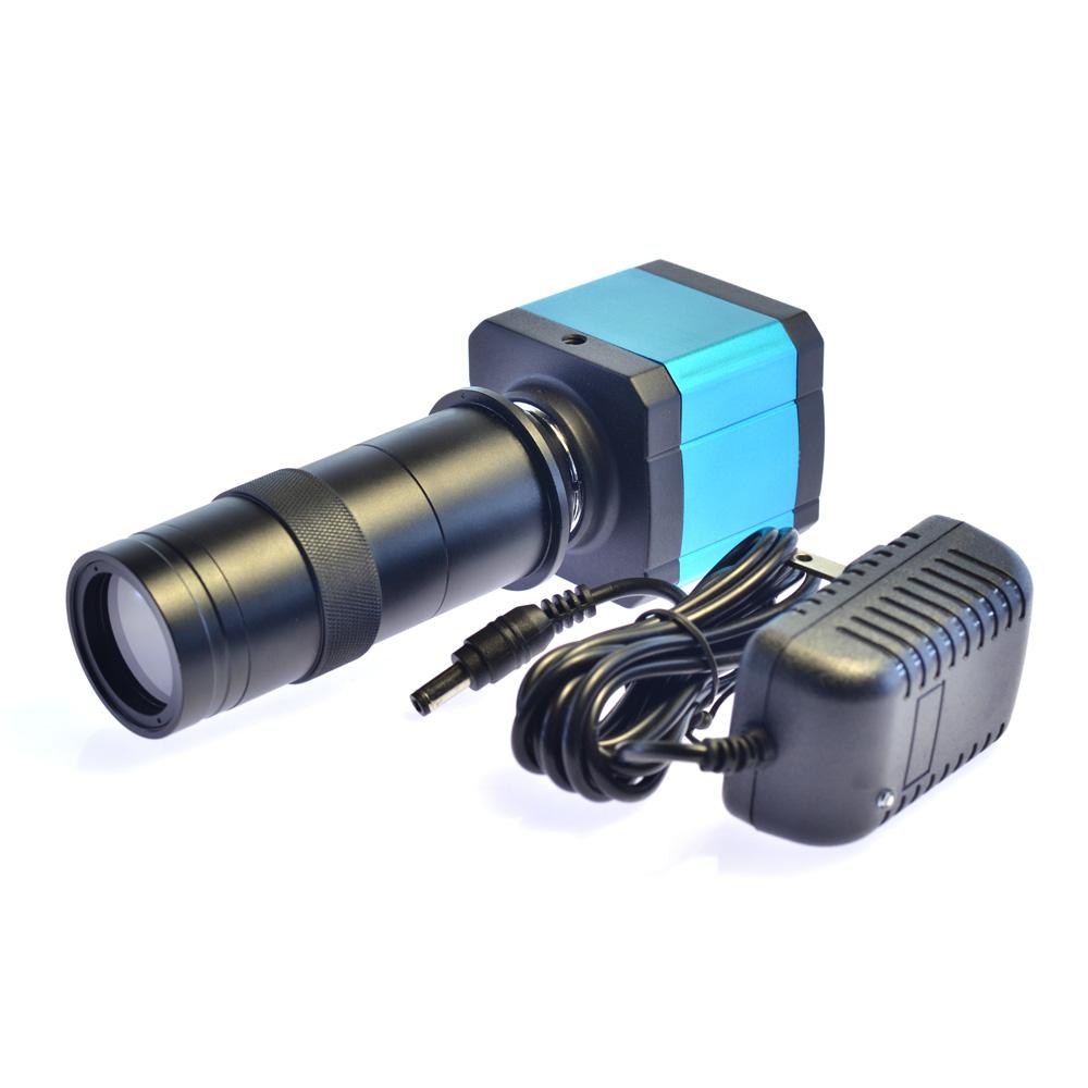 高清1400万摄像头显微镜工业相机 100倍光学镜头 HDMI接口USB输出