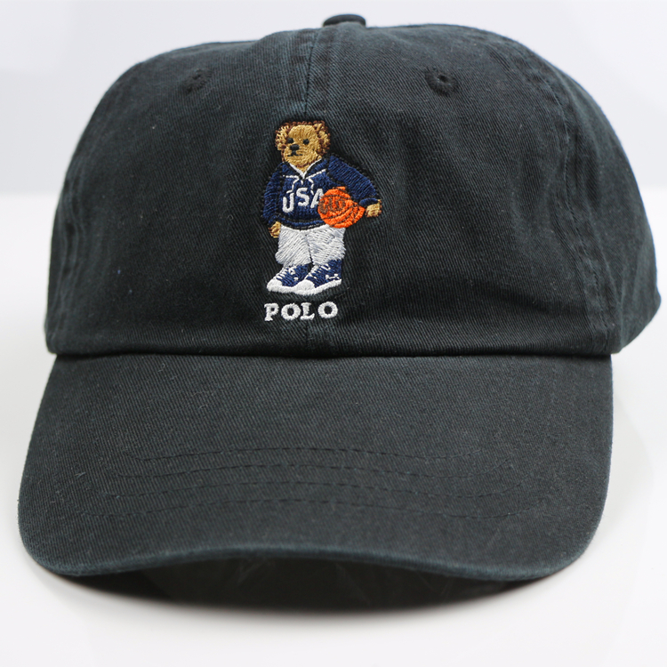 假一赔三保罗棒球帽男街头百搭polo小熊帽子