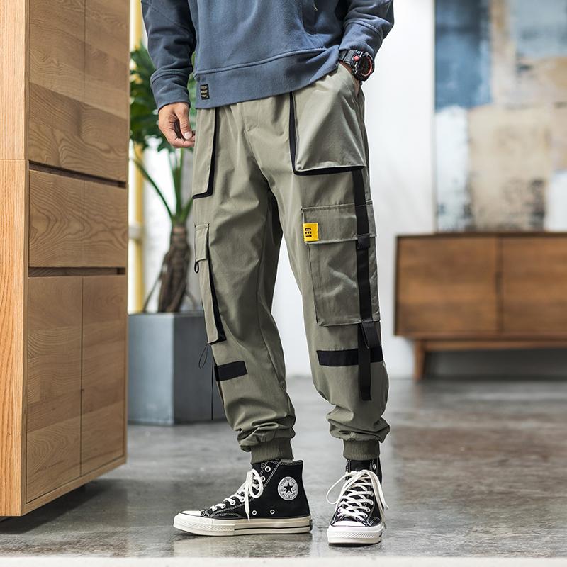 2020春季内景日系休闲小脚休闲长裤子潮 绿色 A892-P35(控价58)
