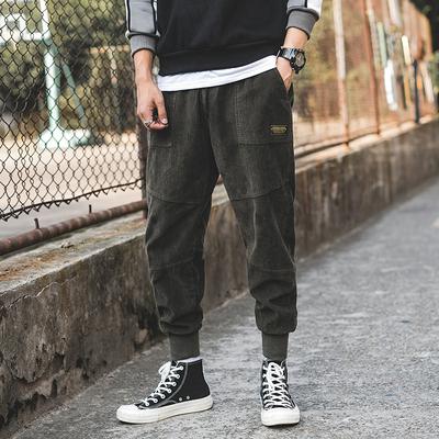 2018秋季外景新款日系灯芯绒休闲裤 军绿色 A857-P55(控价85)