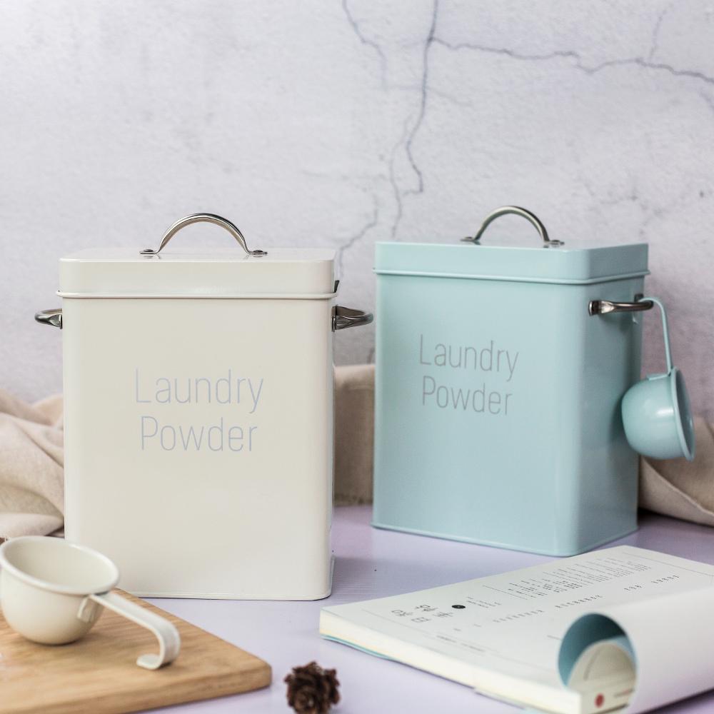 北欧风ins风洗衣粉桶洗衣粉盒可装3斤小号2.5kg米桶5斤送同款小勺