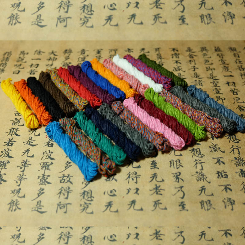 Hand rubbed cotton thread Tibetan cotton rope 1.5mm mm more than 15 pieces, including star moon accessories necklace rope