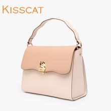 KISSCAT Kissing Cat Genuine Fall 2019 New Bag Female Metal Decorative Handbag DB091L3-64