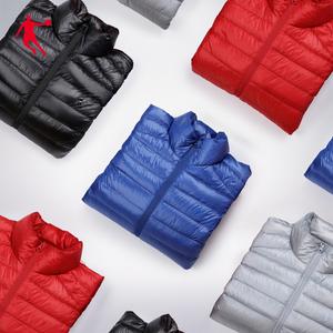 乔丹羽绒服男2021冬季新款轻薄短款男士运动外套保暖鸭绒羽绒服男
