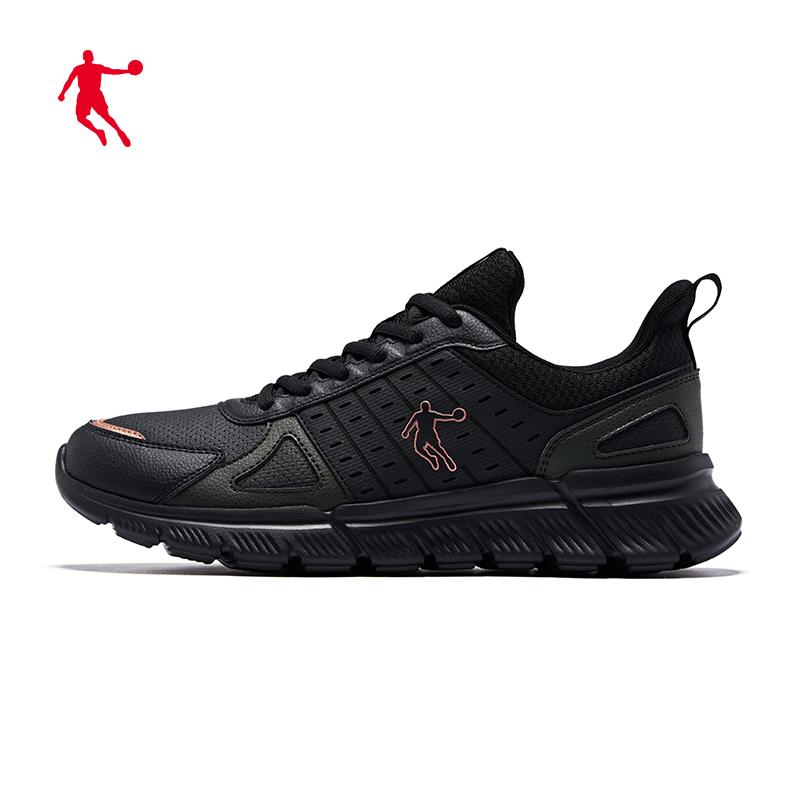 乔丹运动鞋男鞋2019秋冬新款男士跑步鞋革减震跑鞋革面户外鞋子男