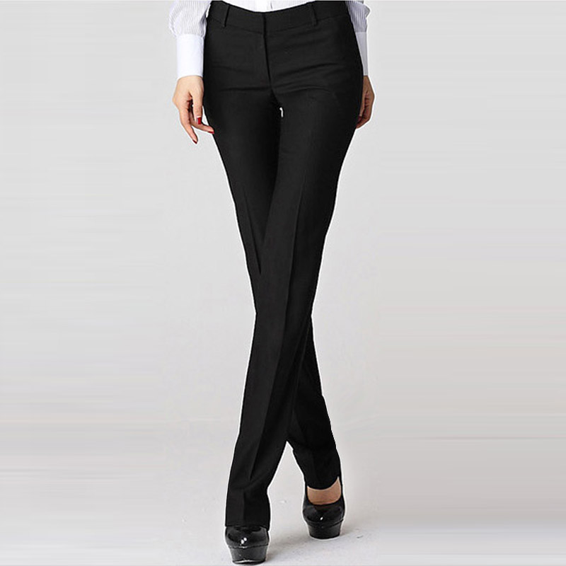 G2000 womens trousers business slim fit non iron professional formal work clothes pants straight tube show thin commuter pants