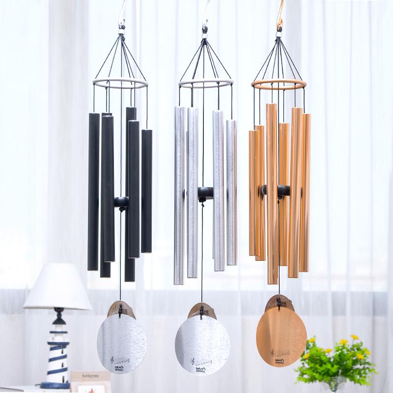 日式音乐风铃金属风铃6管风铃礼物家居风铃挂饰 创意