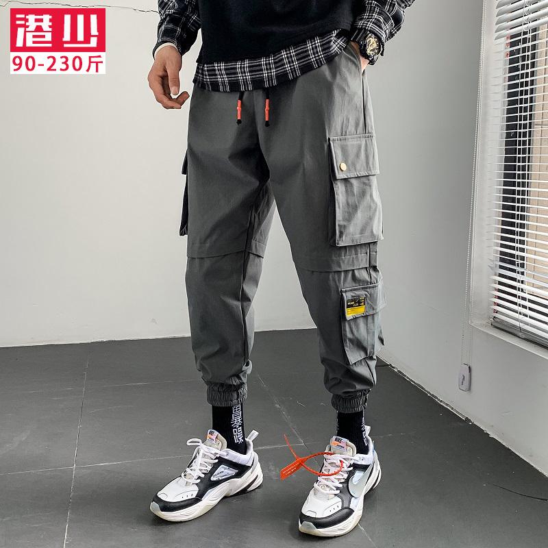 秋季韩版潮流工装裤宽松小脚九分裤限时2件3折
