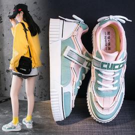 【超软鞋底+魔术贴反向系带+潮搭拼色】百搭板鞋女学生韩版小白鞋图片