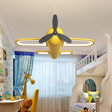 Eye protecting children's room airplane light LED bedroom light northern Europe boy creative warm cartoon room net red Chandelier
