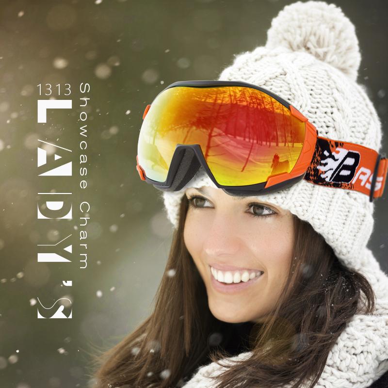 邦士度滑雪眼镜户外运动球面防雾雪镜户外登山滑雪镜男女款成人款