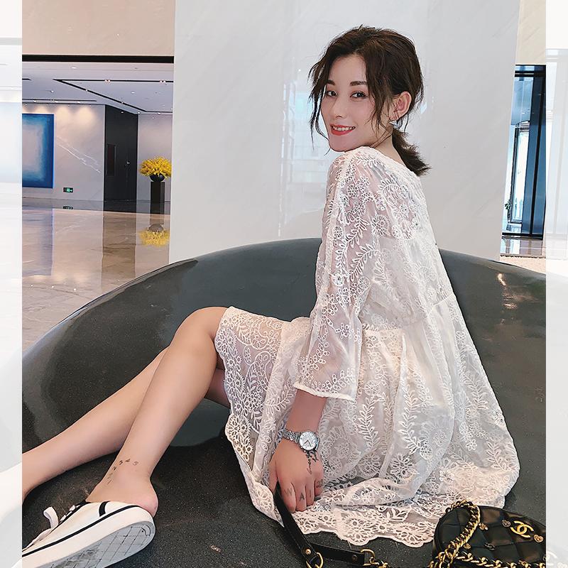 巴掌家欧洲站重工刺绣蕾丝连衣裙限时2件3折