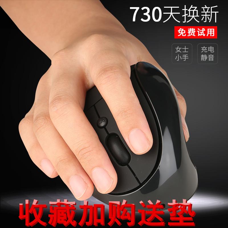 静音垂直无线直立充电手握式鼠标