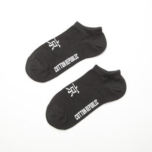 cottonrepublic棉花共和國專柜新品女棉質個性字母小白鞋襪船襪