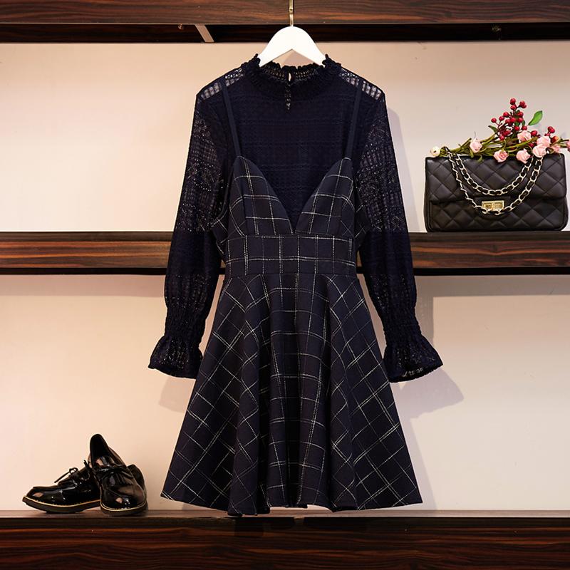 (用5元券)大码女装时尚显瘦遮肚2019连衣裙